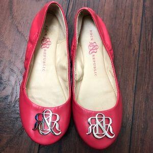 Rock & Republic pink ballet flats size 7.5